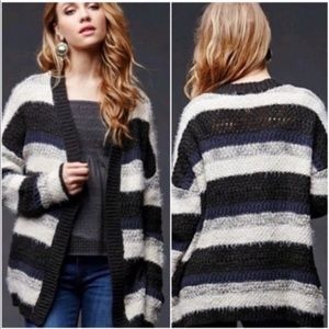House of Harlow 1960 Fuzzy striped open cardigan